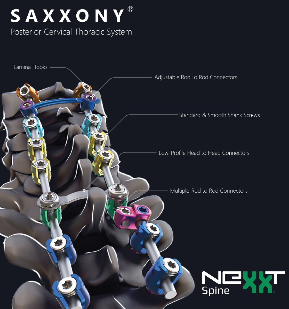 Nexxt Spine SAXXONY Posterior Cervical Thoracic System - ORTHOFLASH
